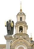 Estátua e igreja do anjo imagem de stock
