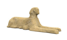 Estátua egípcia da esfinge Fotos de Stock