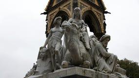 Estátua egípcia no príncipe Albert Memorial em Londres Imagem de Stock