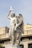 Estátua em Barcelona Spain fotos de stock royalty free