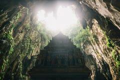 Estátua em cavernas de Batu, Kuala Lumpur imagem de stock royalty free