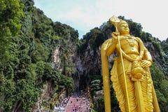 Estátua em cavernas de Batu, Kuala Lumpur de Lord Murugan fotos de stock