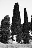 Estátua em Ostia entre ruínas Imagens de Stock