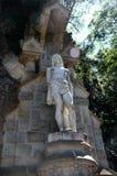 Estátua em torno de Monserrate fotos de stock royalty free