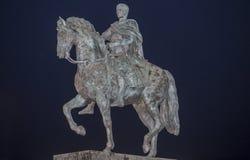 Estátua equestre de Augustus Emperor, Merida, Espanha Imagem de Stock Royalty Free