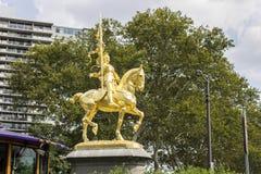Estátua equestre de Joana do arco, Philadelphfia fotos de stock royalty free