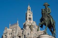 Estátua equestre do imperador D Pedro IV foto de stock