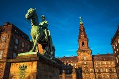 Estátua equestre do rei Christian o 9o Copenhaga Dinamarca Fotos de Stock