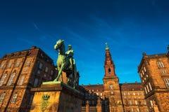 Estátua equestre do rei Christian o 9o Copenhaga Dinamarca Foto de Stock Royalty Free