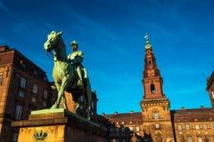Estátua equestre do rei Christian o 9o Copenhaga Dinamarca Fotos de Stock Royalty Free