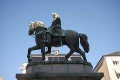 Estátua equestre do rei Christian X imagens de stock royalty free