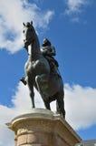 Estátua equestre do rei Philips III no Madri Fotografia de Stock Royalty Free