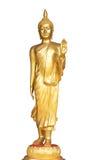 Estátua ereta da Buda do ouro, Tailândia Fotografia de Stock