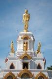 Estátua ereta da Buda em Wat Bang Nam Phueng Fotos de Stock