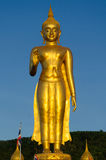 Estátua ereta de Buddha do ouro Imagens de Stock