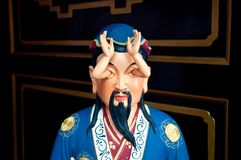 Estátua estranha em Che Kung Temple, Hong Kong fotos de stock royalty free