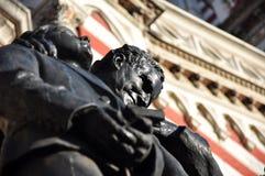 Estátua fora de St Carmen, Bogotá Imagem de Stock Royalty Free