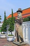 Estátua gigante chinesa em Wat Pho Bangkok Thailand Imagem de Stock Royalty Free