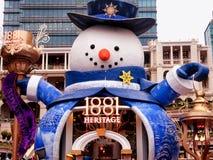 estátua 1881 gigante quadrada do boneco de neve da herança Fotografia de Stock