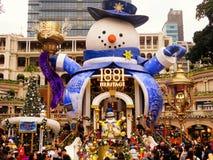 estátua 1881 gigante quadrada do boneco de neve da herança Fotos de Stock Royalty Free