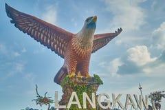 Estátua grande da águia Fotos de Stock Royalty Free
