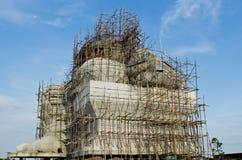 Estátua grande do ganesha sob a construção imagem de stock royalty free