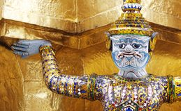 Estátua grande do palácio de Banguecoque Imagem de Stock