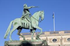 Estátua Gustavus Adolphus em Éstocolmo - Suécia Imagem de Stock Royalty Free