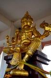 Estátua hindu do ouro de Brahma do deus em Tailândia Fotografia de Stock Royalty Free