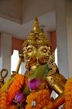 Estátua hindu do ouro de Brahma do deus em Tailândia Foto de Stock Royalty Free