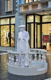 Estátua humana no casino Venetian Fotografia de Stock