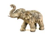 Estátua isolada do elefante imagens de stock royalty free