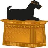 Estátua Jack Russell Terrier do cão ilustração royalty free