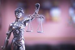 Estátua legal do escritório de advogados Foto de Stock Royalty Free
