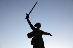 Estátua legendária da matriz Rússia, Volgograd. fotografia de stock
