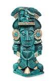 Estátua maia da deidade de México isolado Imagens de Stock