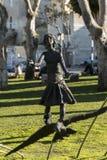 Estátua moderna em Victoria Playground Victoria Gozo fotografia de stock royalty free
