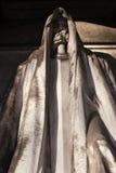 Estátua mortal de um cemitério fotos de stock royalty free