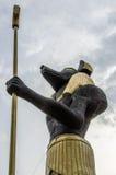 Estátua muito alta de Anubis do faraó Foto de Stock Royalty Free