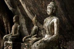 Estátua muito velha de buddha Imagem de Stock