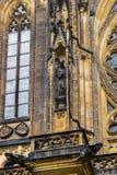 Estátua na catedral metropolitana de Saint Vitus Wenceslaus e Imagens de Stock