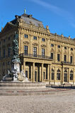 Estátua na frente do Residenz Fotografia de Stock Royalty Free