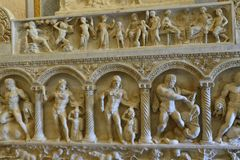 Estátua na galeria Borghese Roma imagem de stock