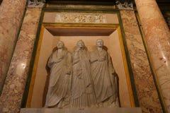 Estátua na galeria Borghese Roma fotografia de stock royalty free