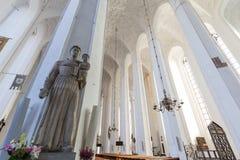 Estátua na igreja do ` s de St Mary em Gdansk fotografia de stock royalty free