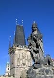 Estátua na ponte da canção de natal Fotografia de Stock Royalty Free