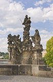 Estátua na ponte de Charles, Praga fotografia de stock