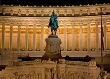 Estátua na praça Venezia Roma fotos de stock royalty free