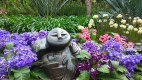 Estátua nacional de Singapura Orchidea Garden fotografia de stock royalty free