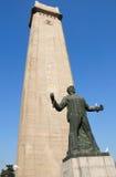 Estátua Nanjing China dos mártir de Yuhuatai imagem de stock